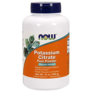 NOW Foods - Polvo del citrato Pure del potasio - 12 oz.: Amazon.es: Salud y cuidado personal