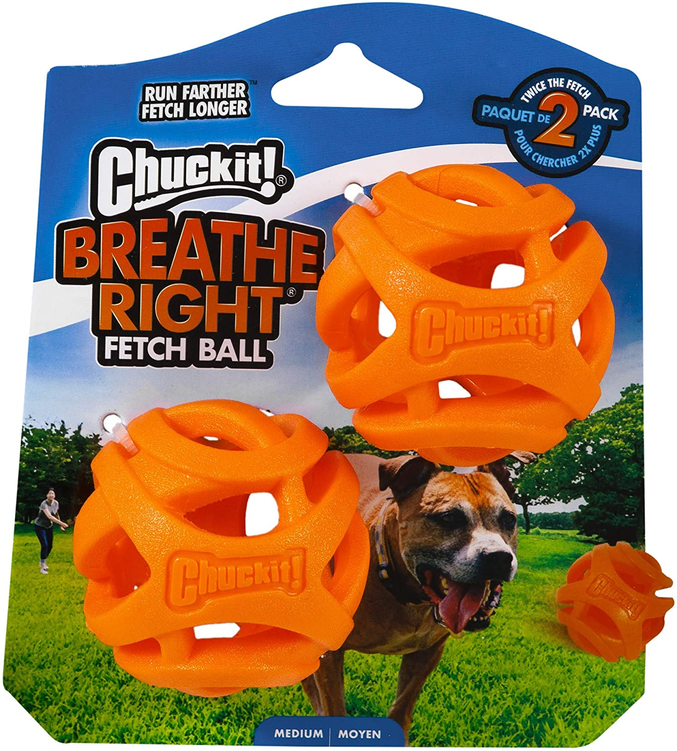 Chuckit CU32141 Pelotas Breathe Right Fetch Ball Medium De Chuckit ...