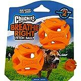 ChuckIt! Durable Breathe Right Ball Dog Toy, (Medium 2-Pack)