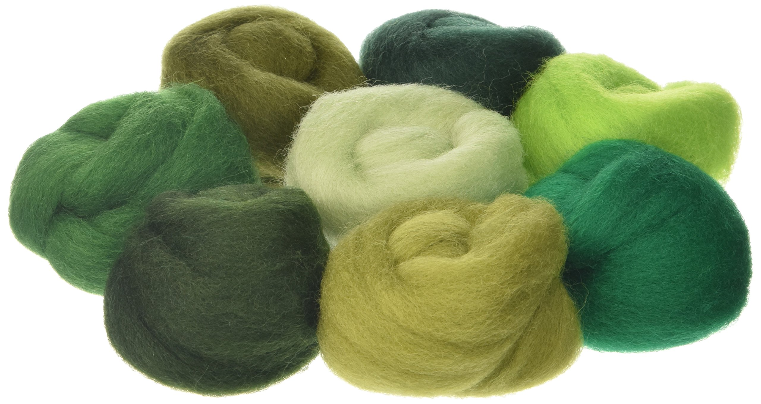 Wistyria Editions 60172 Wool Roving 12''.25 Ounce, 8-Pack