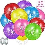 FABSUD - Lote de 20 Globos cumpleaños 4 años: Amazon.es: Hogar
