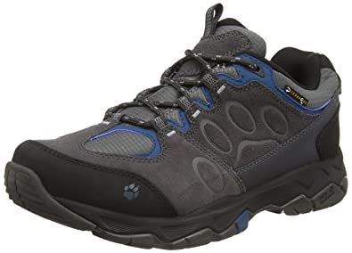 Jack Wolfskin Men's Mountain Attack 5 Texapore Low Moroccan Blue Sneaker UK  7 (US Men's