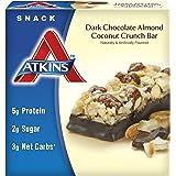 Atkins Snack Bar, Dark Chocolate Almond Coconut Crunch, 5 Bars