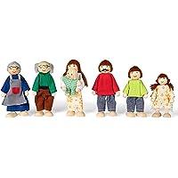 Kledio Familia De Muñecas Hechas de FSC 100% Madera – Marionetas Flexibles para Niños, (KL-3582)