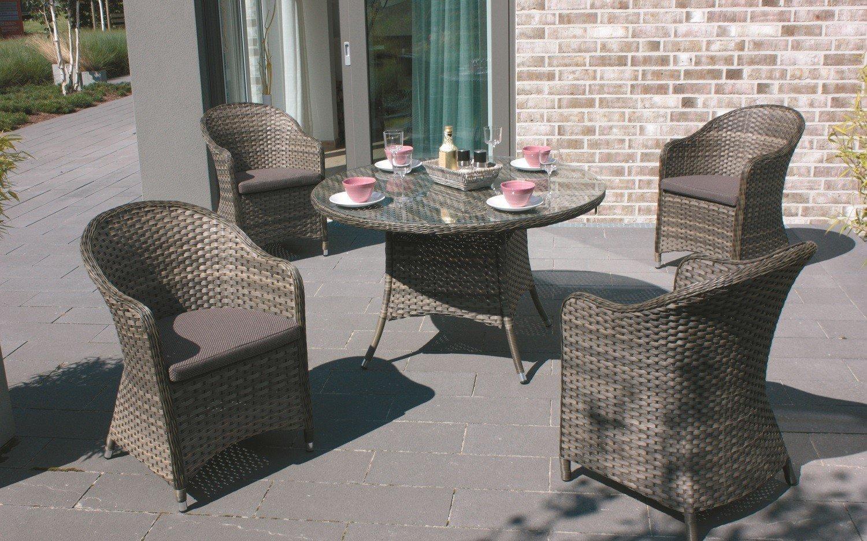 Consul Garden Gartenmöbel Garnitur Ibiza 5tlg. Mit Auflage Aluminium Polyrattan  Günstig Online Kaufen