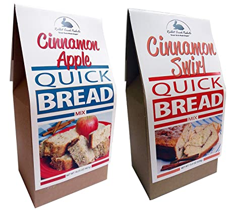 Amazon Com Rabbit Creek Quick Bread Mix Variety Pack Of 2 Cinnamon Apple Bread And Cinnamon Swirl Quick Bread Mix Grocery Gourmet Food