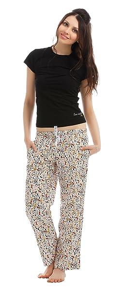The Boxer Store's Shoe-a-holic Pyjama Set for Women -Multi-Coloured Pyjama Sets at amazon