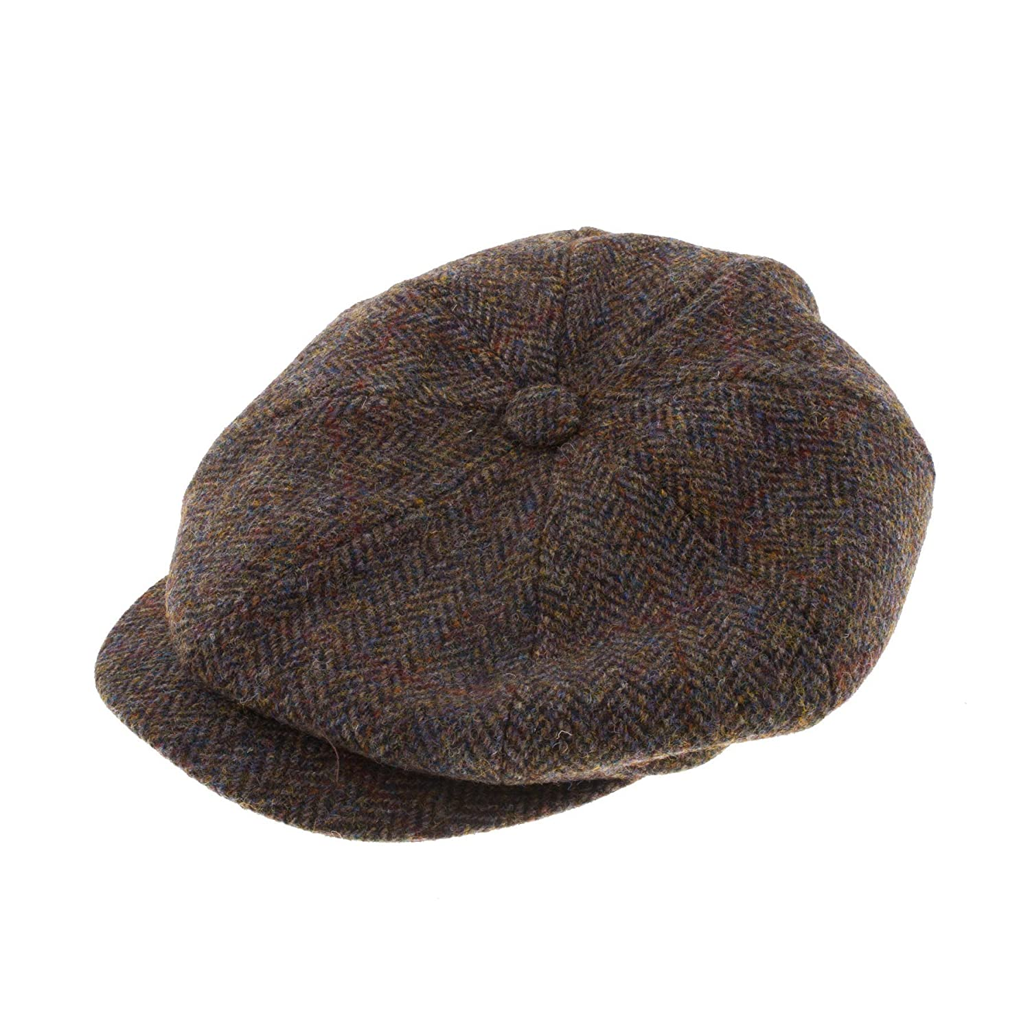 Failsworth Men s Harris Tweed Carloway Cap   Hat 2013 Brown Check (59CM)   Amazon.co.uk  Clothing 8ef8b80381b