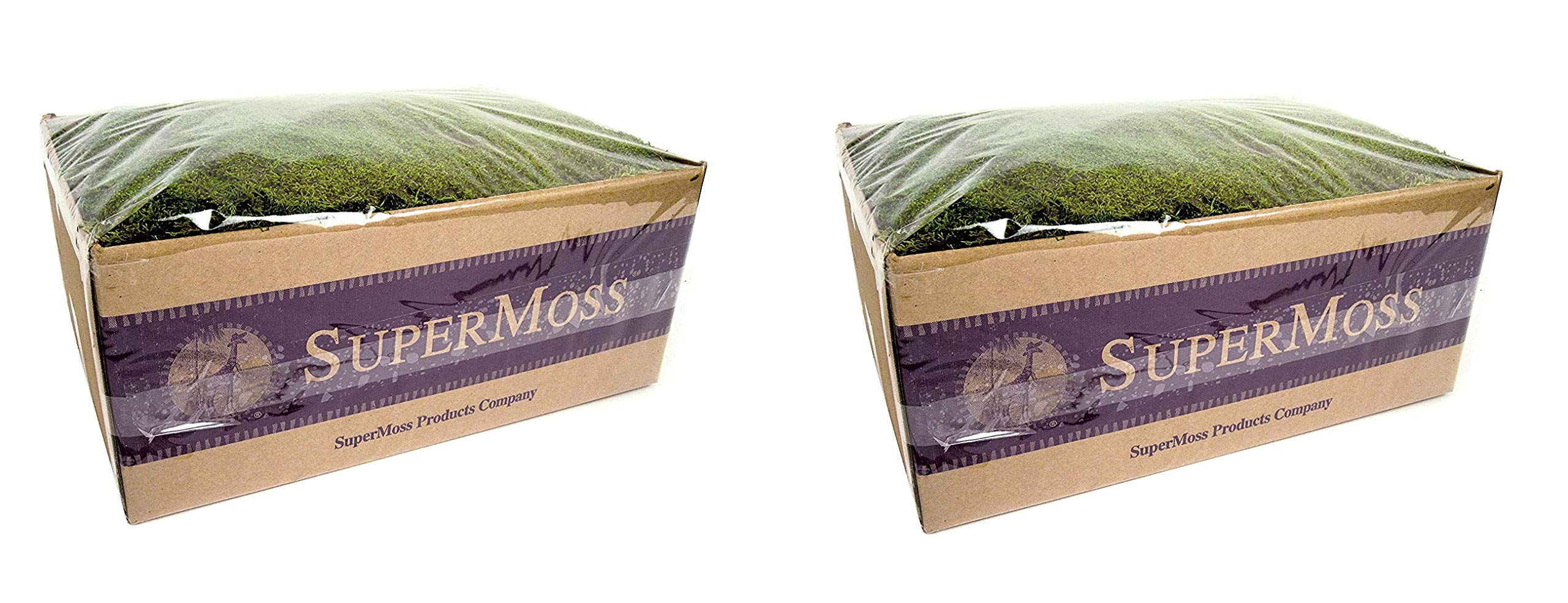 SuperMoss (21598) Sheet Moss Preserved, Fresh Green Wet Use (20-24 sq. ft. Approx 3.5lbs) (2-Pack)
