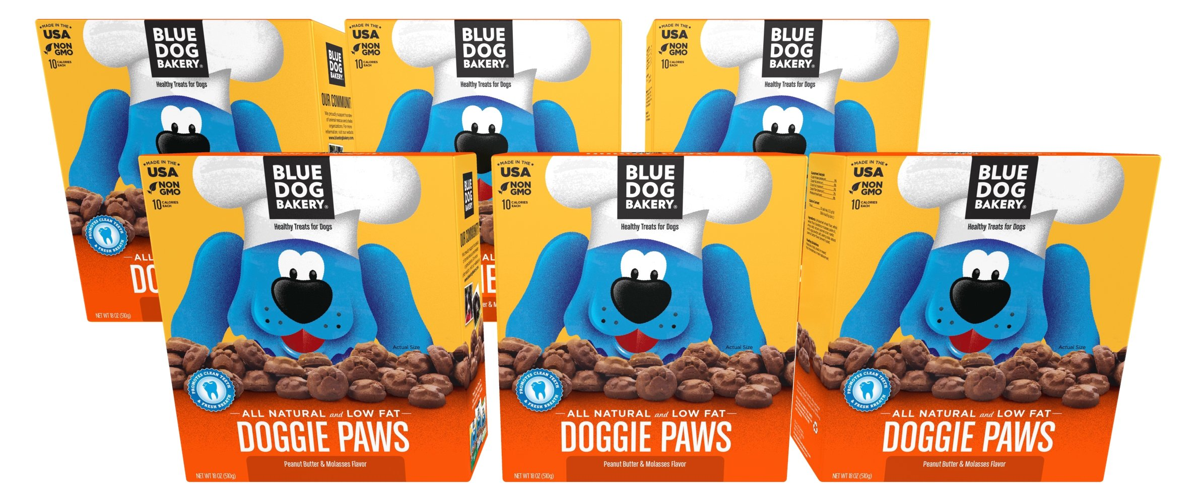 Blue Dog Bakery | Dog Treats | All-Natural | Peanut Butter & Molasses