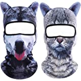 Koolip Cat Balaclava,Dog Balaclava,Halloween Hat,Cute Full Face Hood Mask Animal Ski Mask for Hiking Riding Sports…
