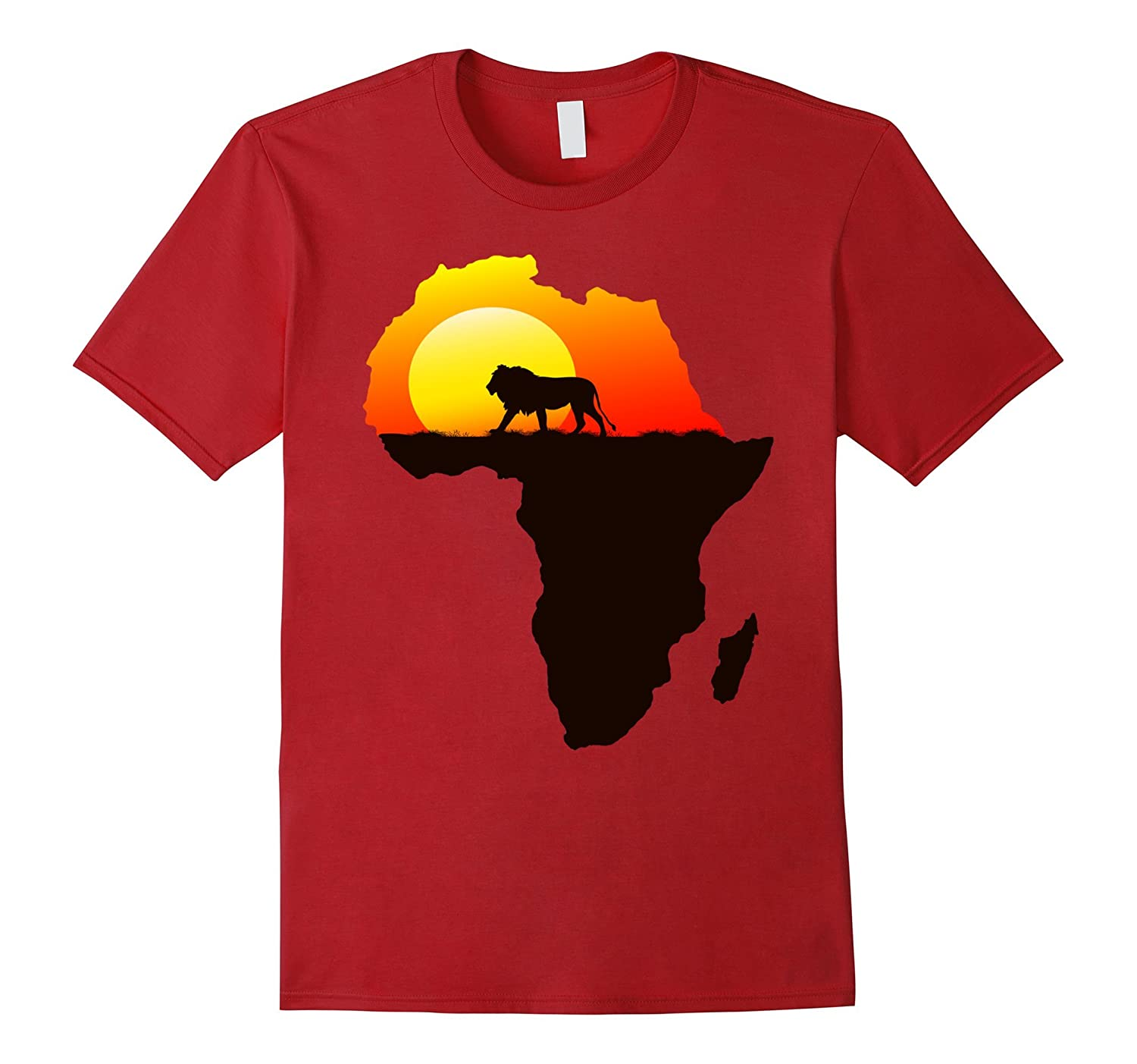 Majestic Lion Strolling Into The Sun Africa Silhouette Shirt-Awarplus