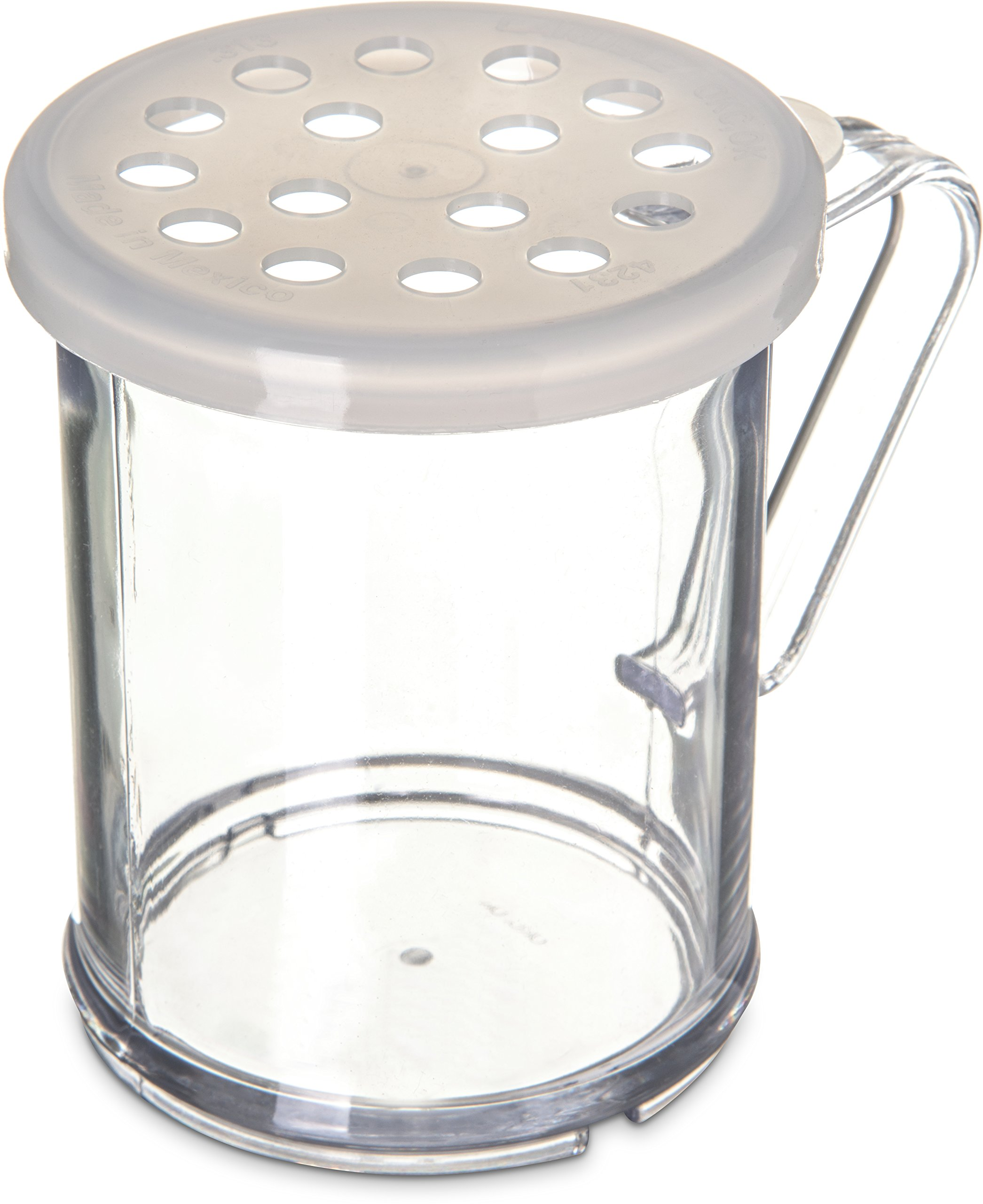 Carlisle 423030 Polycarbonate Parsley Shaker/Dredge with Lid, 1 Cup Capacity, Translucent (Case of 12)