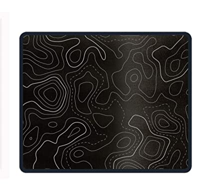 Topographic Map Game.Amazon Com Black Topographic Map Lines Mousepad Decorated Mouse