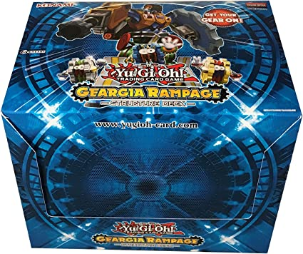 Amazon Com Yu Gi Oh Geargia Rampage Structure Deck Toys Games