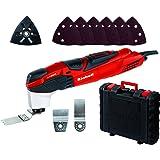 Einhell Outil multifonctions RT-MG 200 E (200 W, Variateur électronique, système d'aspiration fixable sans outil, grattoir, lame de scie plongeante pour bois, adaptateur pour aspiration)