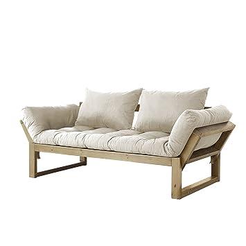 Fresh Futon Edge Convertible Futon Sofa/Bed, Natural Frame, Natural Mattress
