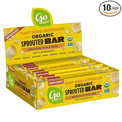 Go Raw Superfood Bars, semillas de calabaza, caja de 10 ...