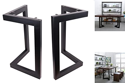 Charming ECLV 28u0026quot; Dining Table Legs, L Shaped Steel Table Legs, Country Style