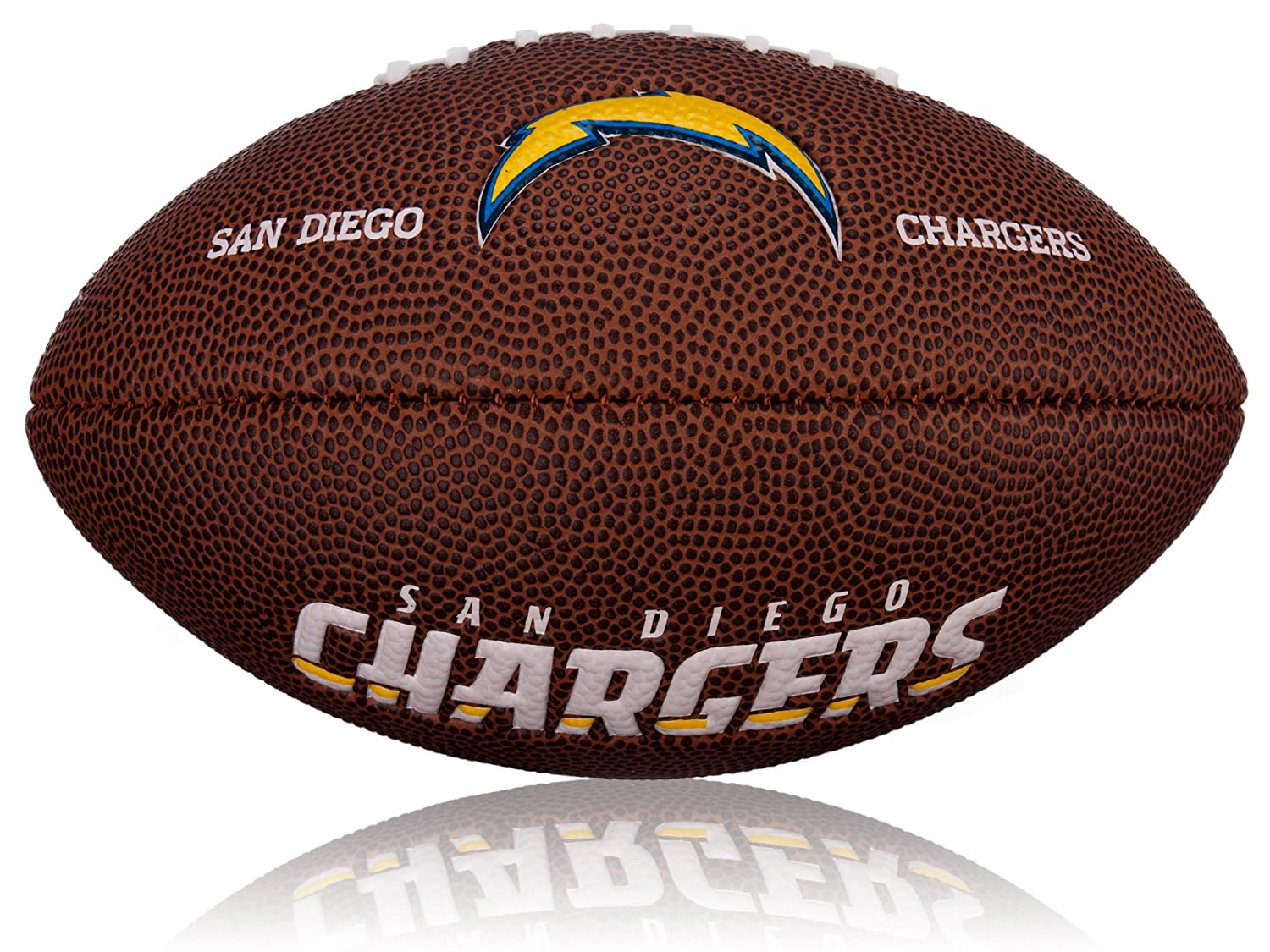 Wilson 2 x NFL Mini San Diego Chargers Football Logo, Brown, WL0206442042