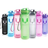 MAIGG Best Sports Water Bottle - 17oz & 32oz - Eco Friendly & BPA-Free Plastic - Fast Water Flow, Flip Top, Opens With 1-Click - Reusable with Leak-proof Lid