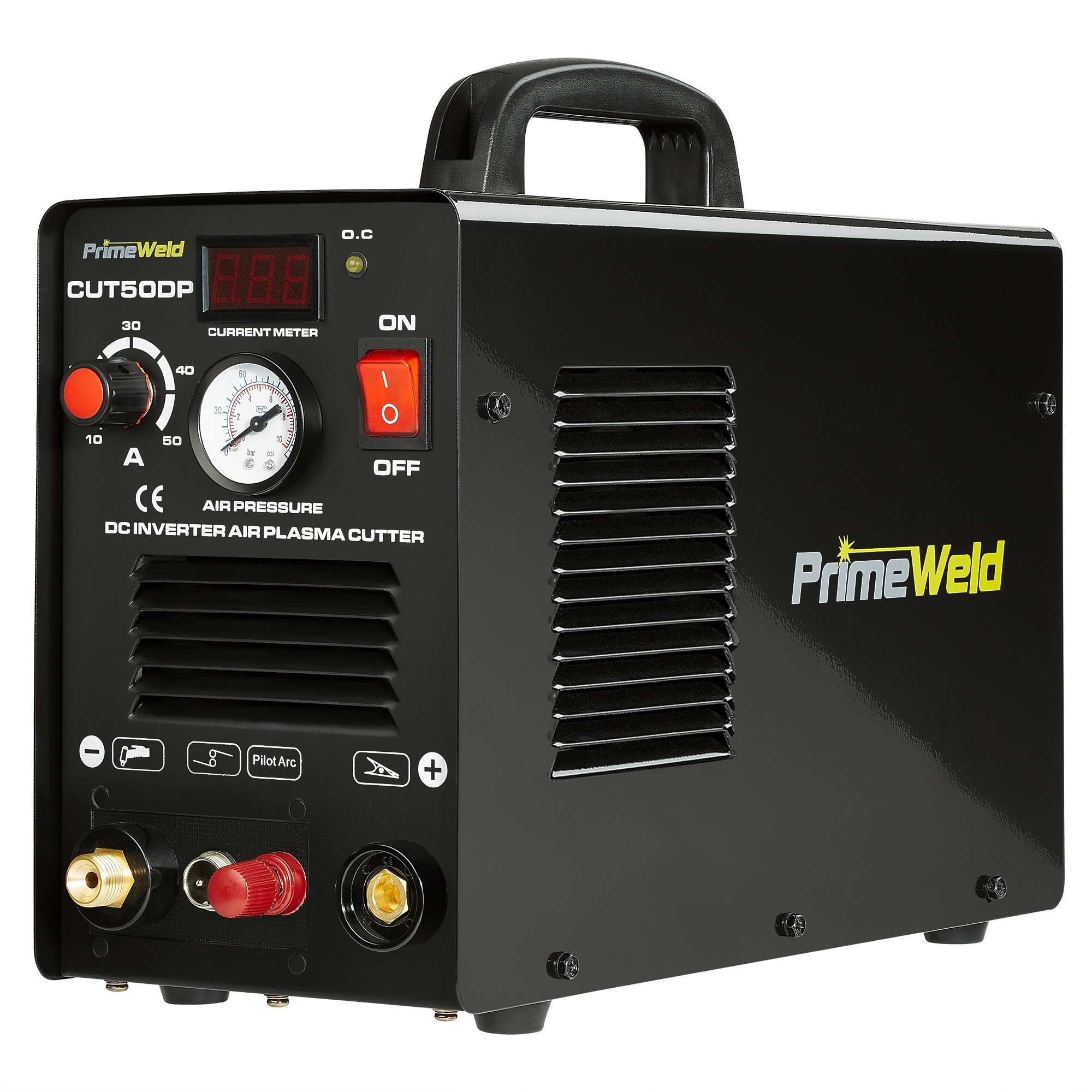 PRIMEWELD 50A CUT50DP NonTouch Pilot Arc Air Inverter Plasma Cutter Dual Voltage 110/220VAC 1/2'' Clean Cut ... by PRIMEWELD