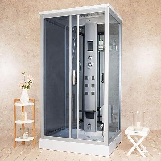 vorich Box ducha hidromasaje Sauna y baño turco 110 x 90 cm ...