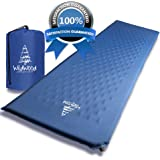 Wildwood Camping Pad Premium Inflatable Sleeping Mat Comfy Insulation Sleep Foam Easy to Use Great for Man Women Outdoor Hiking Backpacking