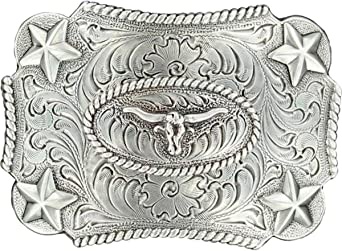 M F Western Products Boys Kids Longhorn Buckle Silver Nocona Boots 3603046
