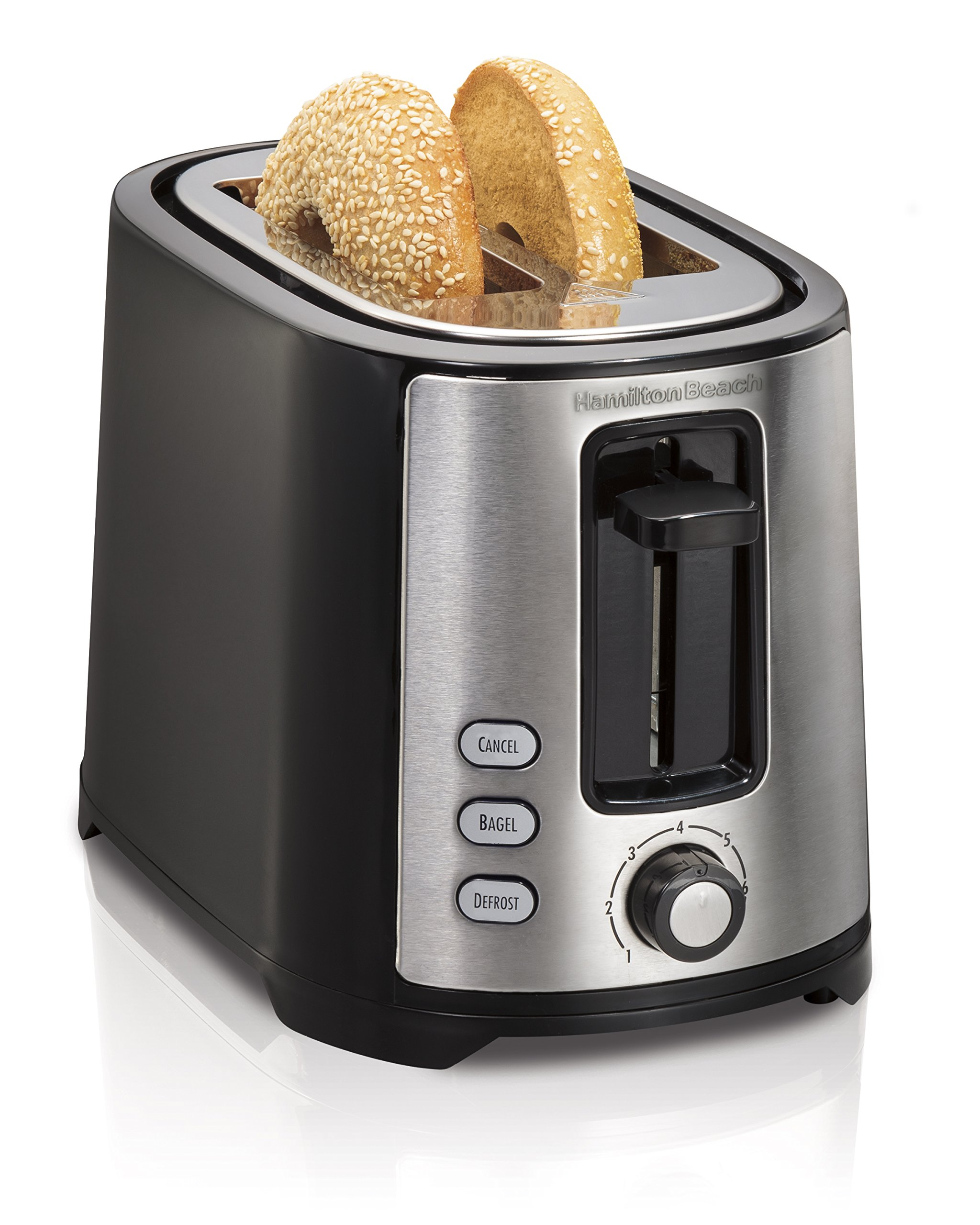 Hamilton Beach 2-Slice Extra-Wide Slot Toaster with Shade Selector, Toast Boost, Cool Wall, Auto Shutoff, Black (22633) by Hamilton Beach