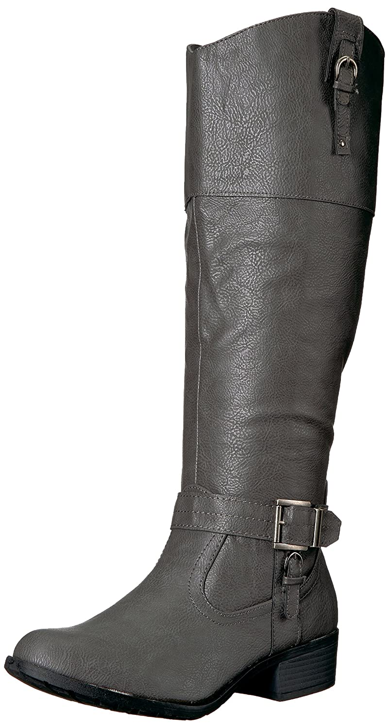 Rampage Women's Ivelia Fashion Knee High Casual Riding Boot (Available In Wide Calf) B076HLK76Q 7.5 M US Wide Shaft|Grey