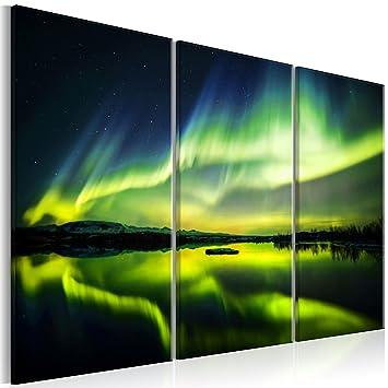 Murando   Bilder Polarlicht 120x80 Cm   Leinwandbilder   Fertig Aufgespannt    Vlies Leinwand   3
