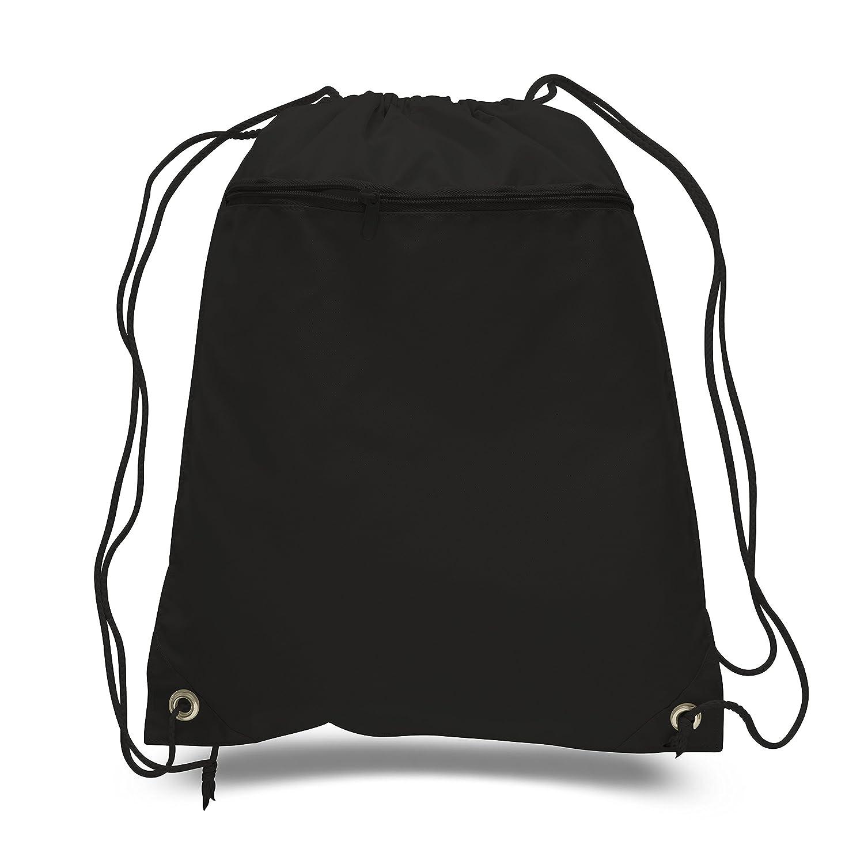 Cinch Sack Drawstring Tote Promotionalバックパック折りたたみ式ジム袋バッグfor Runningショッピング、ワークアウト Set of 12 ブラック B01N0POPG4 Set of 12|ブラック ブラック Set of 12