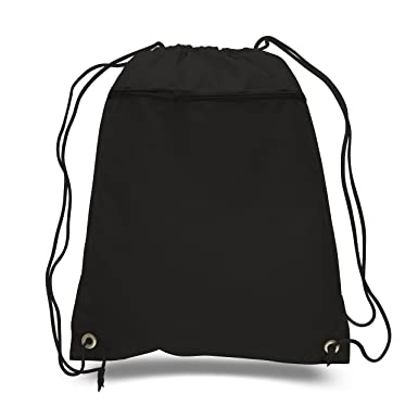 Amazon.com | BagzDepot Promotional Polyester Drawstring Backpack ...