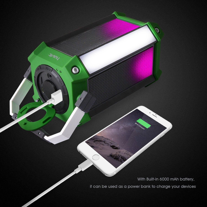 Amazon.com: HAVIT HV-SK159BT LED Wired/Wireless Bluetooth Speaker ...