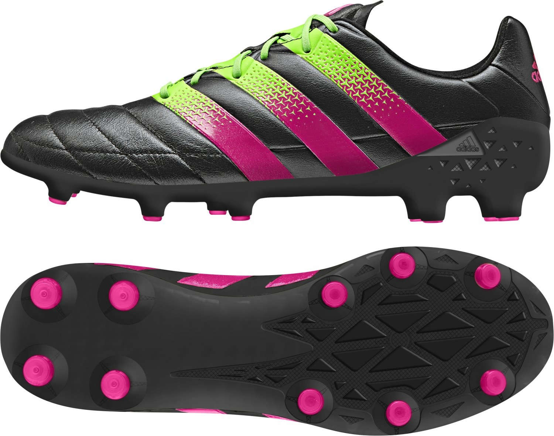 Adidas ACE 16.1 FG AG Leder Weiß schwarz schwarz