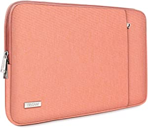 "TECOOL 14 Inch Laptop Sleeve for Lenovo IdeaPad 3/Chromebook/ThinkPad 14"", HP Stream/Pavilion/Elitebook 14, Dell Inspiron 14, 15"" Surface Laptop 3, XPS 15 7590/9500, Samsung Notebook 9 15"", Peach"