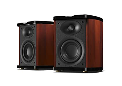 Swan Speakers   M100MKII   Powered 2.0 Wireless Bluetooth Bookshelf Speakers    Wooden Cabinet   4
