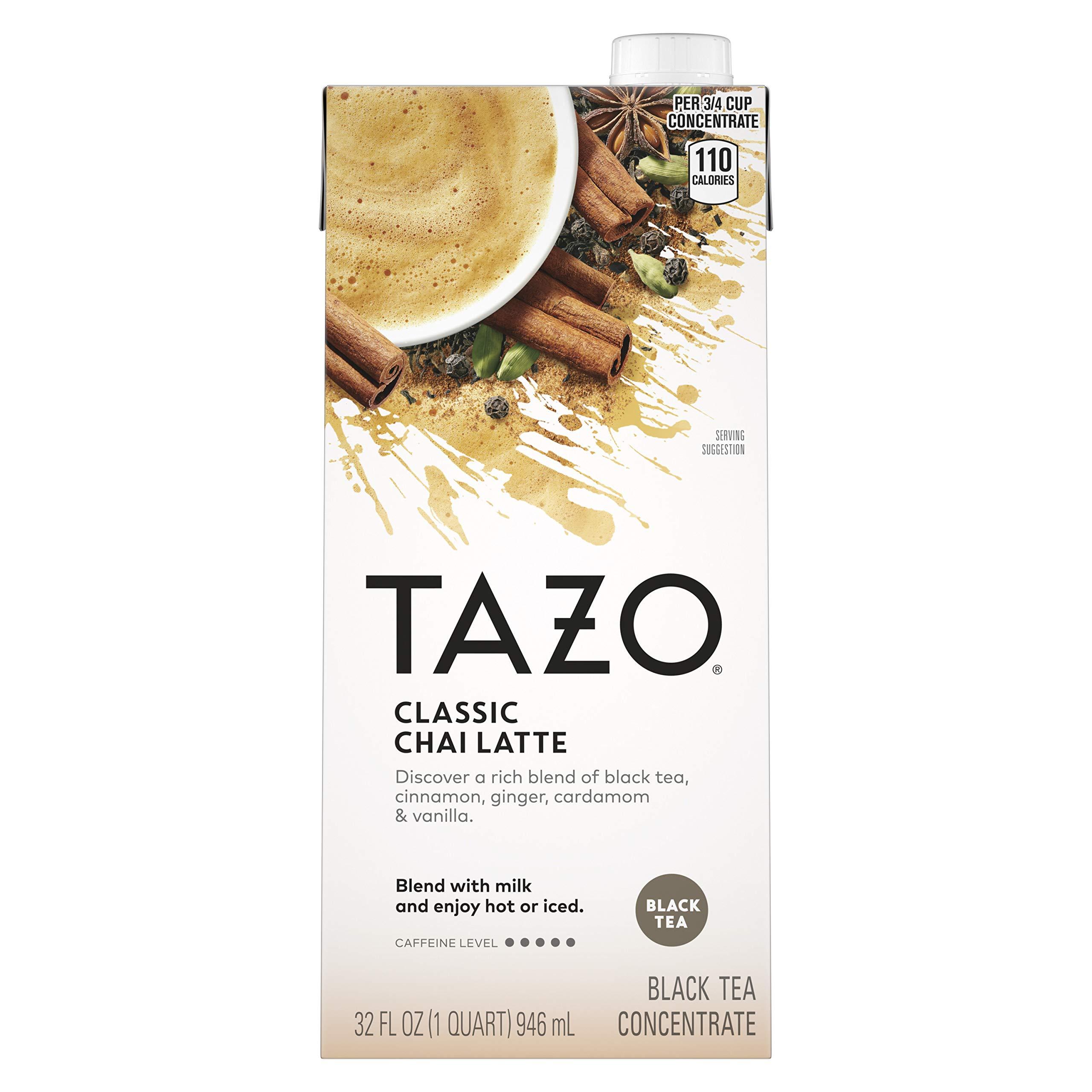 Tazo Organic Chai Latte Concentrate Black Tea 32 oz, 3 count
