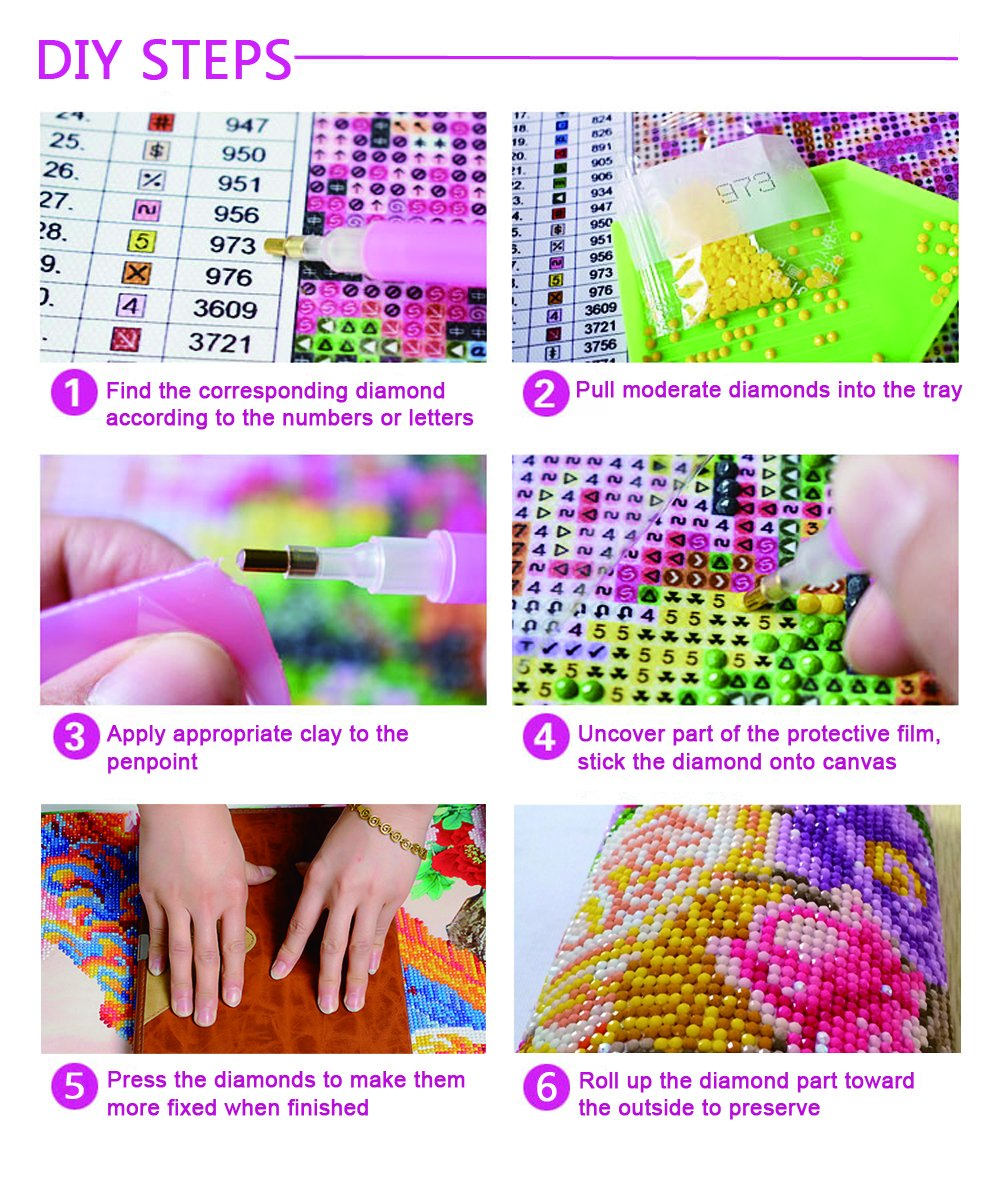 DIY 5D Diamond Painting Full Round Drill Kits Rhinestone Picture Art Craft for Home Wall Decor 12X16In Abstract Cat
