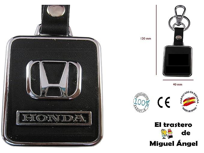 Llavero cuero y metal Honda: Amazon.es: Coche y moto