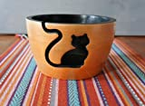 Orchid & Ivy Kitty Cat Wooden Yarn Bowl for