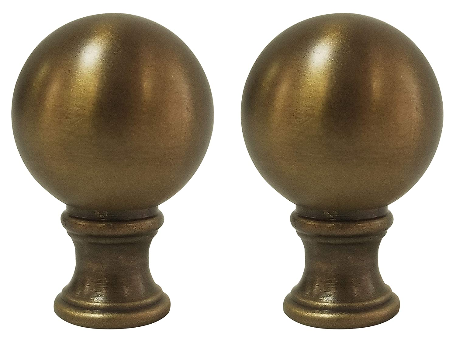 Polished Brass Royal Designs Small Ball Lamp Finial for Lamp Shade