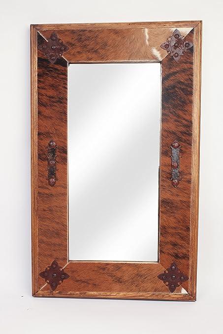 Amazon Com Rustic Mirrors Cowhide Medallion Home Kitchen