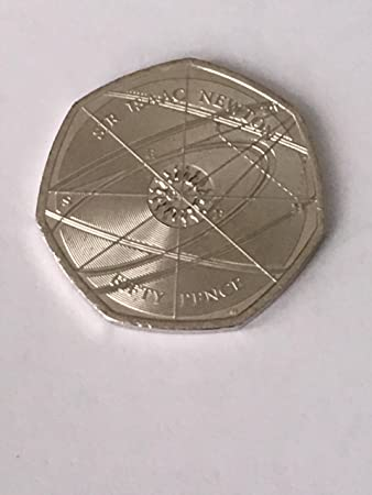 2017 Sir Isaac Newton 50p Fifty Pence Coin Uncirculated By The Royal