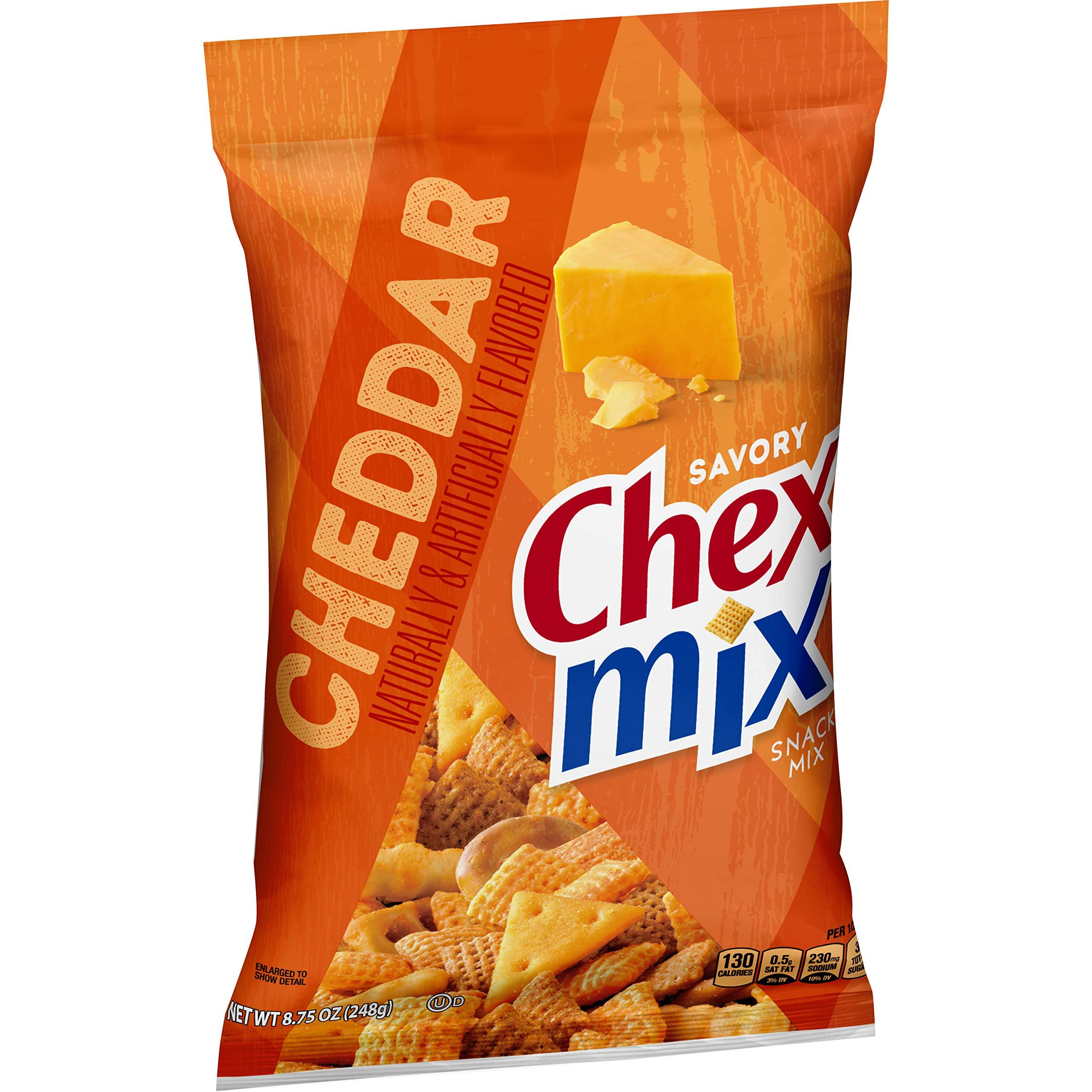 Chex Mix, Snack Mix, Savory Cheddar, 8.75 oz. Bag