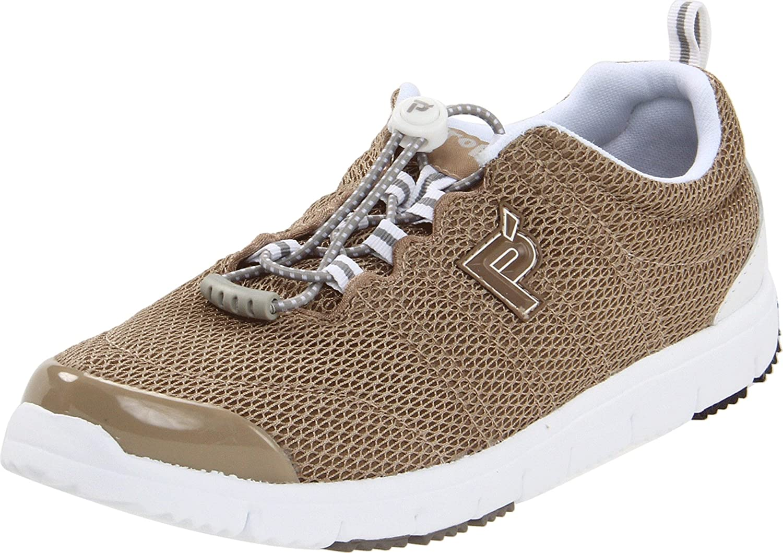 Propet Women's Travelwalker II Shoe B005FX0YR6 9.5 X (2E) US|Taupe Mesh