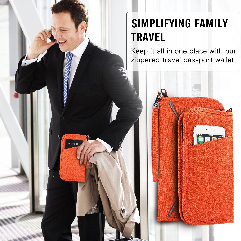 Travel Passport Wallet Case Vivefox RFID Leather Passport Holder Cover