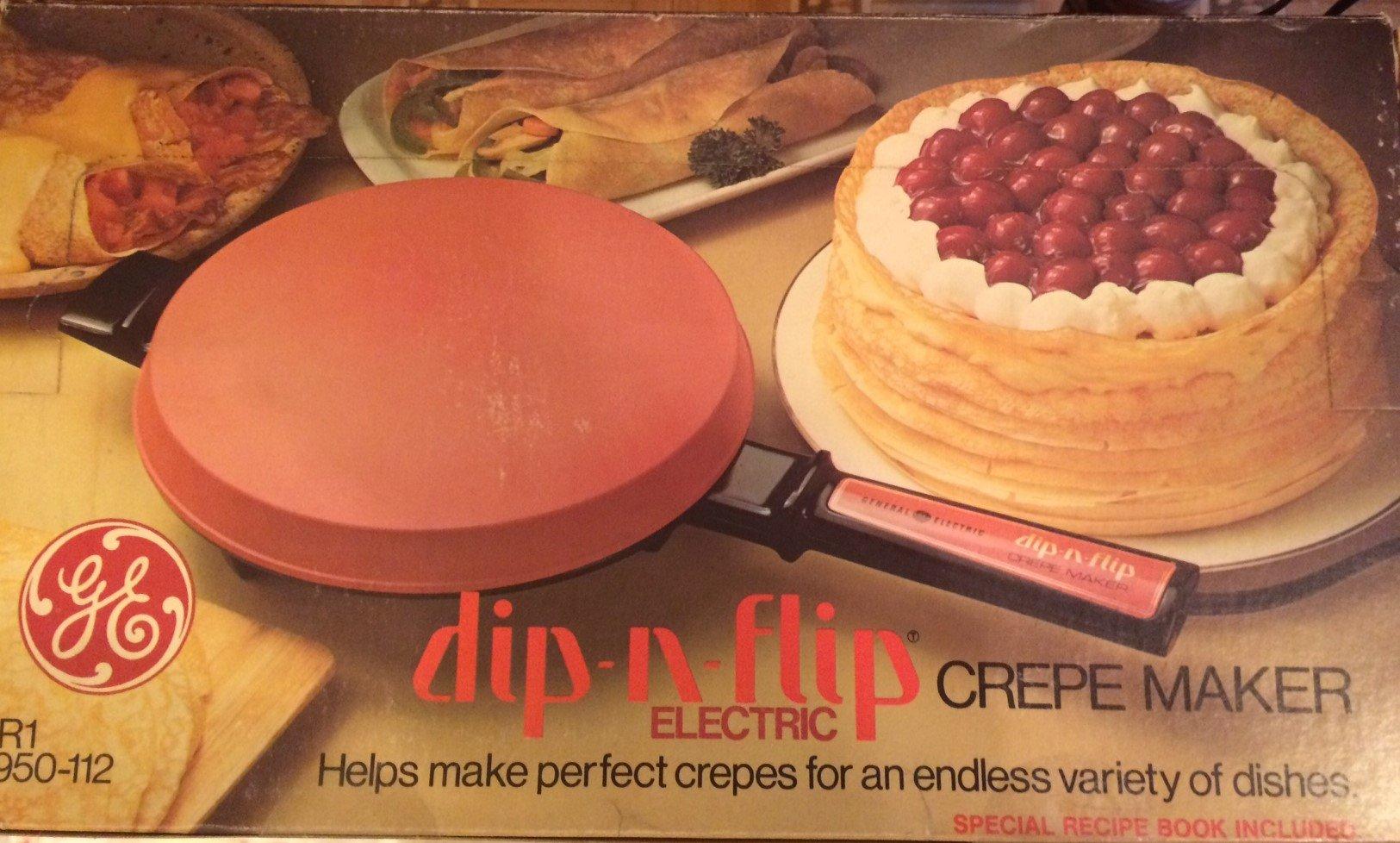GE dip-n-flip Vintage Crepe Maker