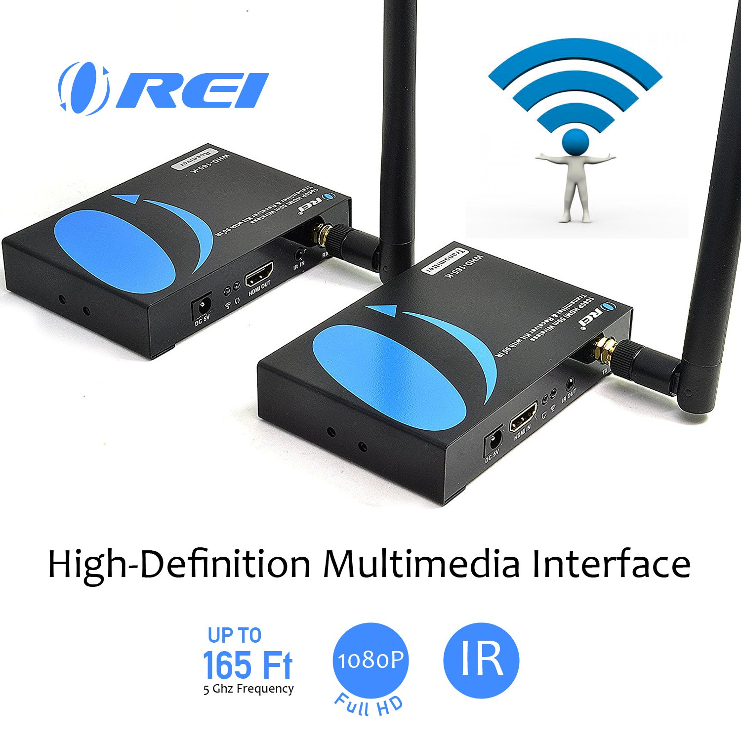 OREI HDS-104 1x4 Powered 1080P V1.4 Certified HDMI Splitter with Full Ultra HD 4K//2K and 3D Resolutions w// EDID Support
